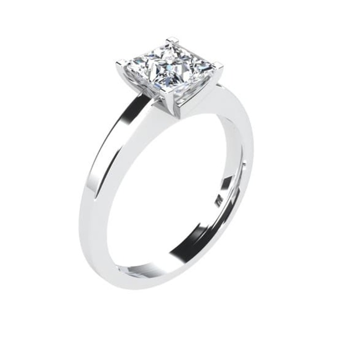 Bague  Classique  Diamant or SOLITAIRE PRINCESSE ROYALE