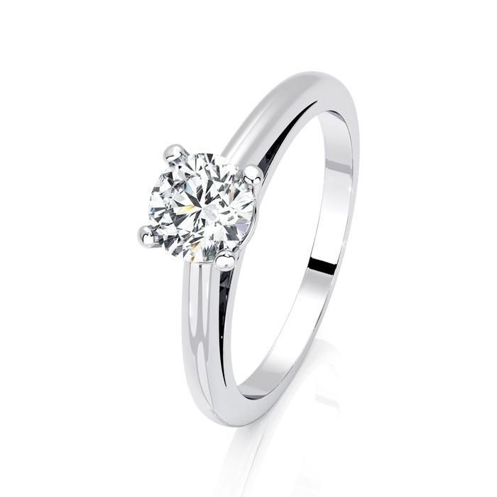 Solitaire  Classique  Diamant or 4 Griffes Classic