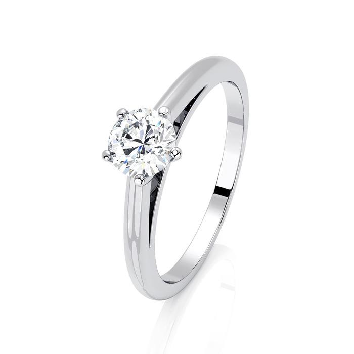 Solitaire  Classique  Diamant or 5 Griffes Classic