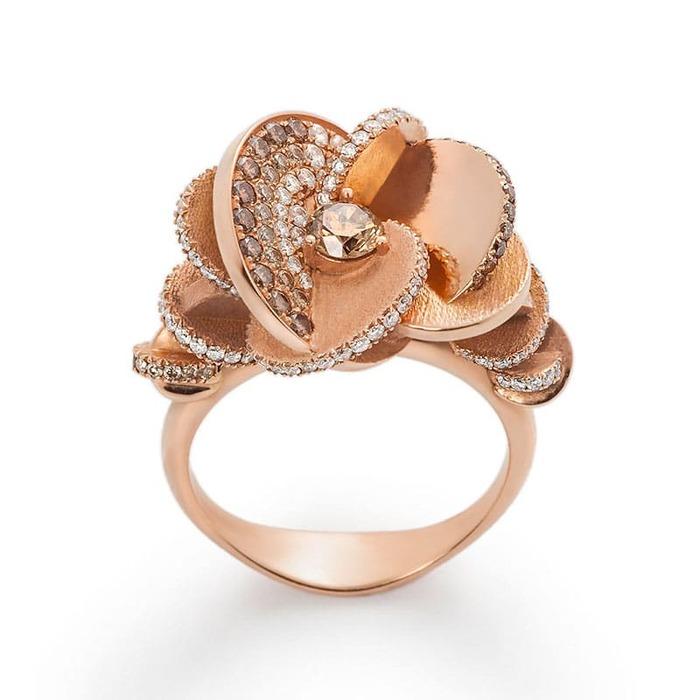 vente Bague  Créateurs Diamant or Rose des Sables